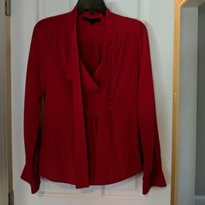 BCBG - Red Silk Blouse sz S